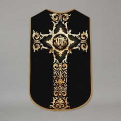 Printed Roman Chasuble 4534 - Black  - 1