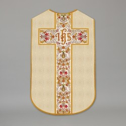 Printed Roman Chasuble 4535 - Cream  - 1