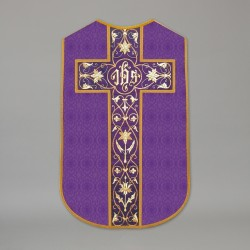 Printed Roman Chasuble 4536 - Purple  - 1