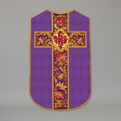 Printed Roman Chasuble 13685 - Purple  - 1