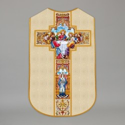 Printed Roman Chasuble 4537 - Cream  - 1