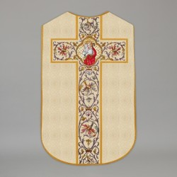 Printed Roman Chasuble 4539 - Cream  - 1