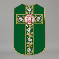 Printed Roman chasuble 4540 - Green  - 1