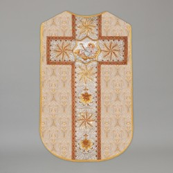 Printed Roman chasuble 4541 - Cream  - 2