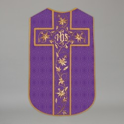 Printed Roman Chasuble 4542 - Purple  - 1