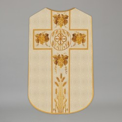Printed Roman Chasuble 4544 - Cream  - 1