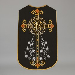 Printed Roman Chasuble 4547 - Black  - 1