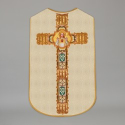Printed Roman Chasuble 4548 - Cream  - 1