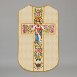 Printed Roman Chasuble 4549 - Cream  - 1