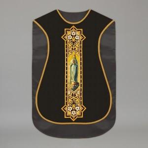 Printed Roman Chasuble 4550 - Black  - 7
