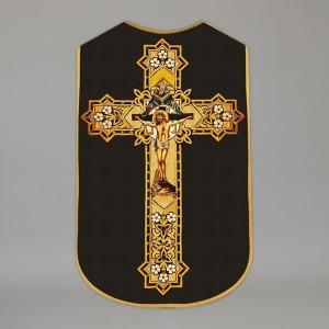 Printed Roman Chasuble 4550 - Black  - 8