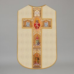 Printed Roman Chasuble 4552 - Cream  - 1
