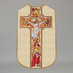 Printed Roman Chasuble 4296 - Gold  - 1