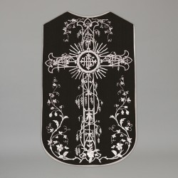 Printed Roman Chasuble 4554 - Black  - 1