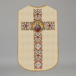 Printed Roman Chasuble 4555 - Cream  - 1