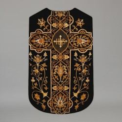 Printed Roman Chasuble 4557 - Black  - 2