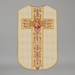 Printed Roman Chasuble 4558 - Cream  - 1