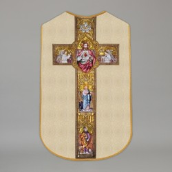 Printed Roman Chasuble 4560 - Cream  - 1