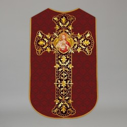 Printed Roman Chasuble 4561 - Red  - 1