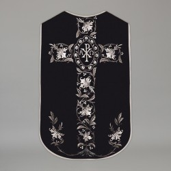 Printed Roman Chasuble 4562 - Black  - 1