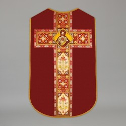 Printed Roman Chasuble 4563 - Red  - 1
