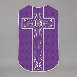 Printed Roman Chasuble 4564 - Purple  - 1