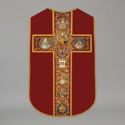 Printed Roman Chasuble 4566 - Red  - 1