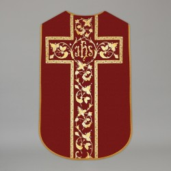 Printed Roman Chasuble 4567 - Red  - 1