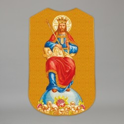 Printed Roman Chasuble 4568 - Gold  - 1