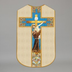 Printed Roman Chasuble 4570 - Cream  - 1