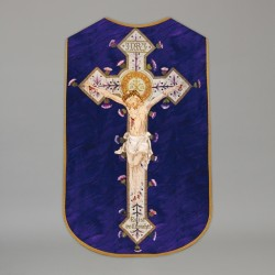 Printed Roman Chasuble 7660 - Purple  - 1