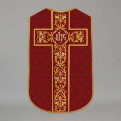 Printed Roman Chasuble 13686 - Red  - 1
