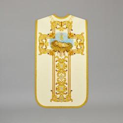 Roman Chasuble 13706 - Cream  - 1