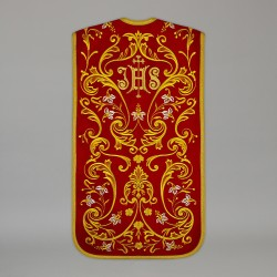 Roman Chasuble 13711 - Red  - 1