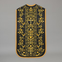 Roman Chasuble 13716 - Black