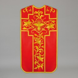 Roman Chasuble 13724 - Red  - 1