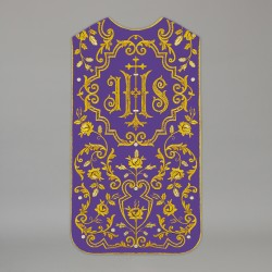 Roman Chasuble 13726 - Purple  - 1