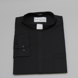 Black Clergy Shirt - long...