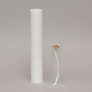 White Oil Candle 2'' Diameter  - 6