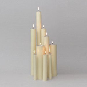 Ivory Oil Candle 2'' Diameter  - 2
