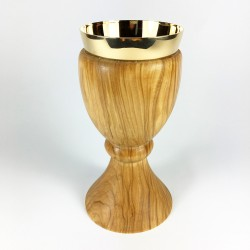 Solid Olive Wood Chalice 15208