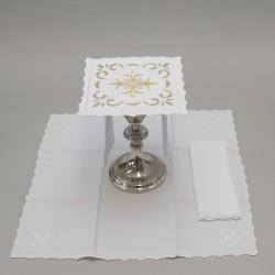 Ornate Cross Altar linen set 15815
