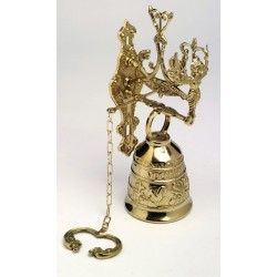 Large Ornate Brass Bell