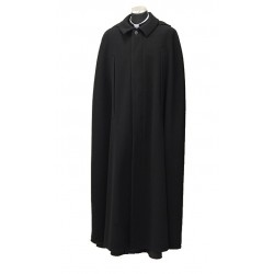 Clerical cloak - warm, made of hard wearing wool blend, optional hood