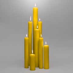 Premium Unbleached 25% Beeswax Candles